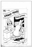 GORMLEY, DAN - Looney Tunes #108 cover  (1st issue not as equal LT & MM Comics),  Bugs and Porky Pig 1950 Comic Art