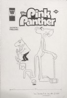 MESSERLI, JOE - Pink Panther #76 cover, Panther plays croquet 1980 Comic Art