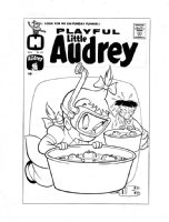 KREMER, WARREN - Playful Little Audrey #22 cover, brilliant bobbing technique! Comic Art