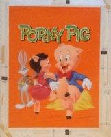 Porky Pig painted Whitman cover #1139. Porky & Bugs Bunny 1964 Comic Art