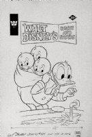 BARKS, CARL WDCS #215- redrawn PETE ALVARADO - Walt Disney Comics & Stories #459 cover, Donald Duck, nephews bath 1978 Comic Art