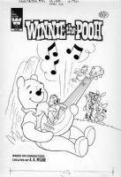 ALVARADO, PETE? - Walt Disney Winnie-the-Pooh #29 cover, Pooh & music for his gang 1978 Comic Art