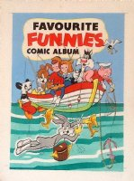 Favourite Funnies Comic Album #1 painted cover, Bugs Bunny, Woody, Ann & Andy + 1950s Comic Art