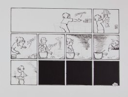 JOHNSTON, LYNN - For Better or Worse Sunday, unfinished minus panels 1990s Comic Art