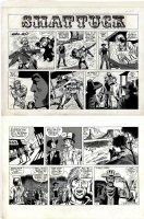 COCKRUM, DAVE - Shattuck Sunday #18, Shattuck saves saloon gal - Wally Wood's Military Comics -1972 Comic Art