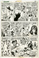 COCKRUM, DAVE - Avengers, Giant-Size #3 pg 38, Celestial Madonna Saga- Iron Man, Thor, Hawkeye, Mantis, Silver Surfer, Shang-Chi + villains Comic Art