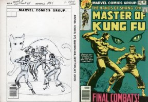 COCKRUM, DAVE - Master of Kung Fu #68 cover prelim, Shang Chi vs the Cat Comic Art