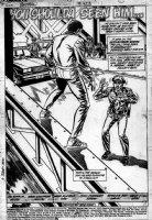 COCKRUM, DAVE - Batman #423 splash- Bridge jumper Comic Art