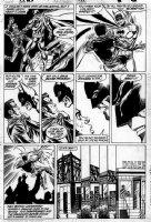 COCKRUM, DAVE - Batman #423 pg 5 - Batman drops off bridge jumper Comic Art