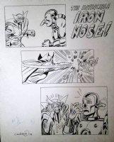COCKRUM, DAVE - Foom Magazine, How Iron Man lost his nose, Iron Man vs Mandarin 1974 Comic Art