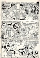 HECK, DON - Avengers #37 large pg 12, full team vs Android Comic Art