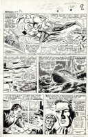 HECK, DON - Avengers #27 large pg 7, Quicksilver Scarlet Witch vs Atuma, Hawkeye on FF jet Comic Art