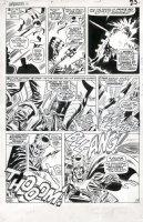 HECK, DON - Avengers #31 large pg 17, Wasp battles bad guys Comic Art