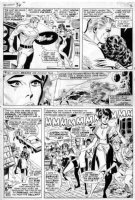 HECK, DON - Avengers #36 large pg 2,  Cap and Scarlet Witch - X-Men flasback, w/ extra art panel Comic Art