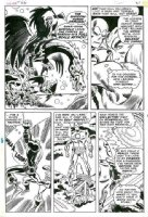 HECK, DON - Iron Man #26 pg 16, Iron Man battles dragon-rider 1970 Comic Art