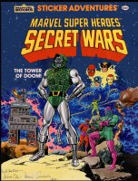 SEVERIN, MARIE / FRED KIDA - Secret Wars book painted cover, Doom + Marvel heroes & villains 1984 Comic Art