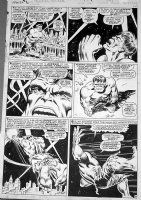 SEVERIN, MARIE - Tales To Astonish #92 pg 8, Hulk vs Silver Surfer in sky Comic Art