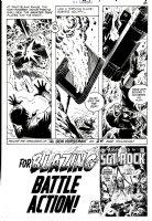 HEATH, RUSS - GI Combat # 143 pg 6, Jeb & Haunted Tank destroy huge tank 1970 Comic Art