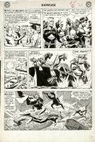 HEATH, RUSS - Showcase #29 large pg 3, Pre-#1 Sea Devils guys & gal dive 1960   Comic Art