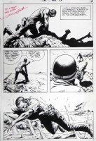 HEATH, RUSS - Our Army At War #226 pg 10, big Sgt Rock panel under fire- signed  Comic Art