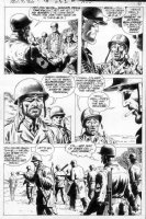 HEATH, RUSS - Our Army At War #262 pg 5, classic, Sgt. Rock listed MIA?...no longer in Easy Co.! Comic Art