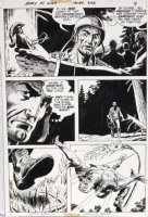 HEATH, RUSS - Our Army At War #243 pg 7, Sgt Rock close-up & trapped, signed Comic Art