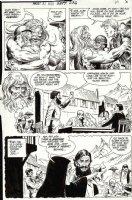 HEATH, RUSS - Our Army At War #236 pg 5, Sgt Rock & Billy Boy meet old man/ghost? wedding & Gypsy flashbacks 1971 Comic Art