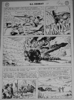 HEATH, RUSS - GI Combat #59 large pg 5,  Have Bazooka -- Will Travel . Plane vs nest of Nazi Comic Art