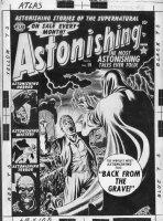 HEATH, RUSS - Astonishing #19 Atlas pre-code cover, pre-code horror  Back From Grave  1952 Comic Art