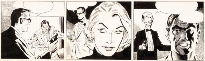 HEATH, RUSS - Rip Kirby daily Tryout - detective hero, Honey Dorian, Desmond - 1956 Comic Art