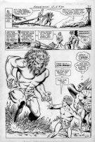 ANDERSON, MURPHY - Hawkman #20 pg 6, large 3/4 splash page, Hawkman vs Lion-mane Comic Art