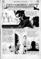 INFANTINO, CARMINE/ John Giunta - Mystery In Space #86 2-up chapter splash, Adam Strange Comic Art