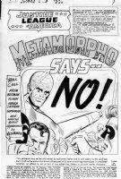 SEKOWSKY - Justice League #42 pg 1 Metamorpho Comic Art