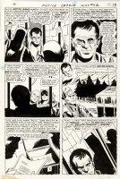 SEKOWSKY, MIKE - Justice League #62 pg 11, JLA Flash & Atom visit jail  Comic Art