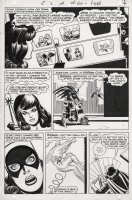 SEKOWSKY, MIKE - Justice League of America #60 pg 4, rare Batgirl appearance. Full shot of her on the Batcycle watch Batman turning into a  Batterfly !  All JLA members shown at top Comic Art