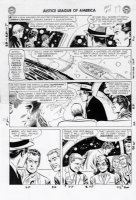 SEKOWSKY, MIKE - Justice League of America #19 pg 19,  all of the JLA members in their civies Comic Art