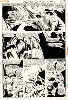 SEKOWSKY, MIKE - Justice League #62 pg 14, JLA Flash & Atom stop crooks Comic Art