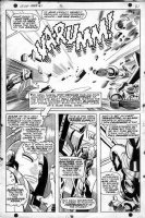 COLAN, GENE - Iron Man #1 page 16, half page splash as Iron Man faces the full force of AIM. Historic first issue! Comic Art