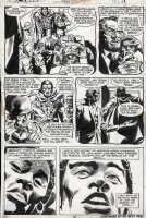 COLAN, GENE - Strange Tales #171 pg 18, Brother Voodoo and Bambu investigate a man the may be a zombie Comic Art