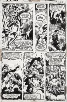 COLAN, GENE - Strange Tales #171 pg 23, Brother Voodoo hears Baron Samedi's story of creating a zombie army Comic Art