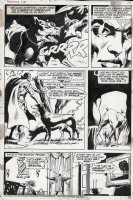 COLAN, GENE - Strange Tales #173 pg 10, Brother Voodoo uses his power to calm attack dogs! Comic Art