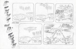 COLAN, GENE - B'Twixt & B'Tween tryout Sunday, Spit-water, 1990s Comic Art
