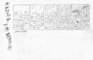 COLAN, GENE - B'Twixt & B'Tween tryout Sunday, Umbrella, 1990s Comic Art