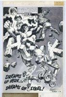 COLAN, GENE - Hulk Magazine #25, title splash - Hulk transforms & smashes Comic Art