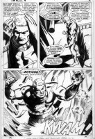 COLAN, GENE - Captain Marvel #4 pg 2, splashy - three panels - All Marvel out of control Comic Art