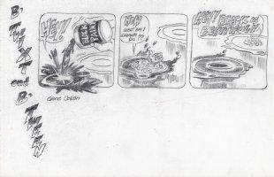 COLAN, GENE - B'Twixt & B'Tween tryout Sunday, paint it Black, 1990s Comic Art