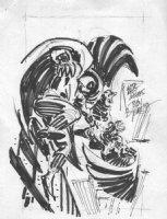 ROMITA SR, JOHN layouts for BILL REINHOLD - The Prowler #4 cover, Prowler vs Vulture  Comic Art