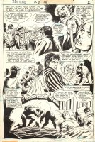 CARDY, NICK / GEORGE TUSKA - Teen Titans #36 pg 2, Robin & Kid Flash + fight over Lilith Comic Art