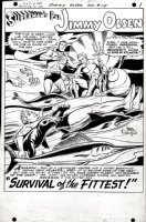 COSTANZA, PETE - Superman's Pal Jimmy Olsen #115 pg 1, splash - Superman & Aquaman 1968 Comic Art