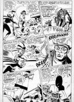 BROWN, BOB - Brave and the Bold #78 pg 11, Batman, Wonder Woman vs Batgirl  Comic Art